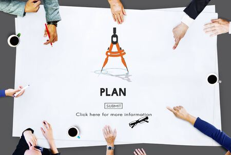 planning process: Plan Planning Process Mission Concept Stock Photo