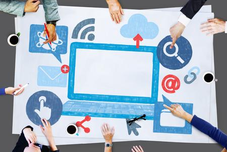 Technology Internet Online Icon Illustration Concept