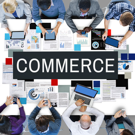 buying: Commerce Selling Buying Business Concept Stock Photo