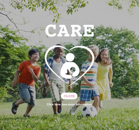 child care: Care Children Maternity Heart Life Concept Stock Photo