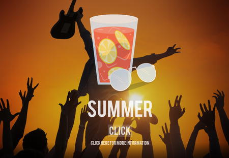 cool down: Summer Glass Lemonade Drink Graphic Concept Stock Photo