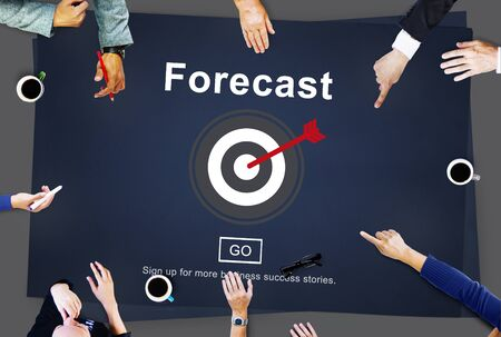 Forecast Prediction Plan Goal Concept 版權商用圖片