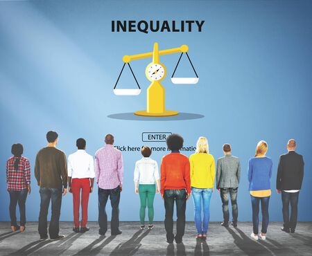 imbalance: Inequality Imbalance Victims Prejudice Bias Concept