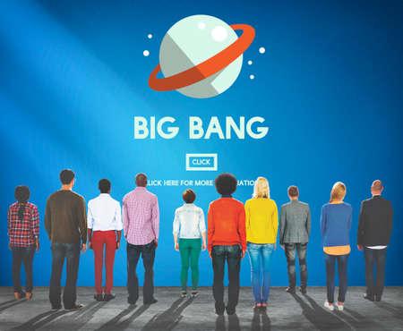 big bang theory: Astronomy Big Bang Planet Spaceship Concept