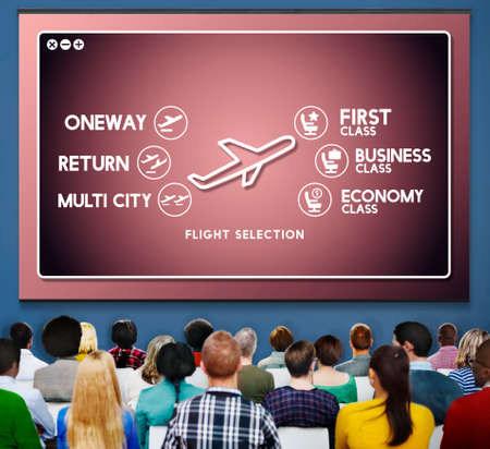 selection: Airport Flight Ticket Selection Transportation Concept Stock Photo
