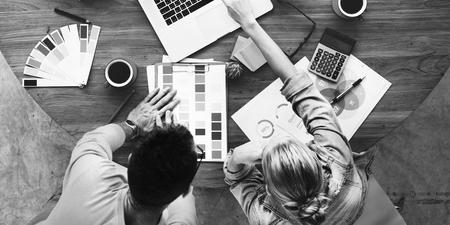 Hommes d'affaires Créativité Design Studio Idées Concept Banque d'images