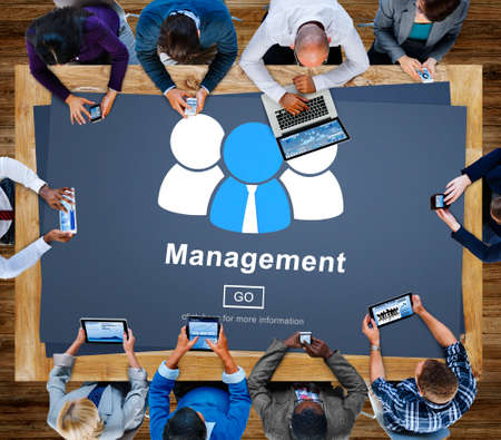 business roles: business, coaching, controlling, coordination, dealing, management, manager, managing, mentor, organization, process, roles of management, strategy, supervising, word Stock Photo