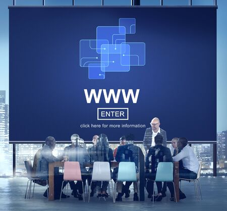 WWW Website Online Internet Web Page Concept Imagens