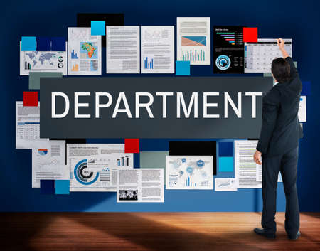 sector: Department Agency Branch Division Office Unit Concept Stock Photo