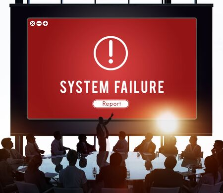 failed plan: Failure Attacked Hacked Virus AbEnd Concept