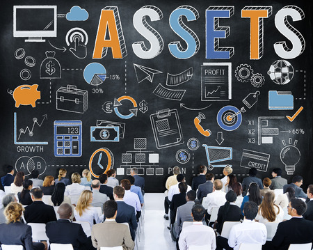 Audience with assets concept Stockfoto