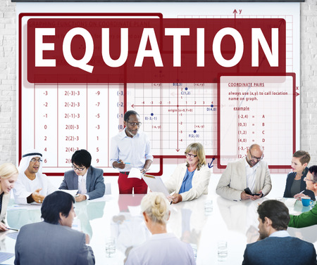 equation: Equation Mathematics Calculation Chart Concept Stock Photo