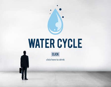 evaporacion: Water Cycle Condensation Evaporation Rain Natural Concept Foto de archivo