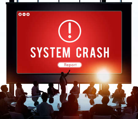 failed plan: System Crash Network Problem Technology Software Concept Stock Photo