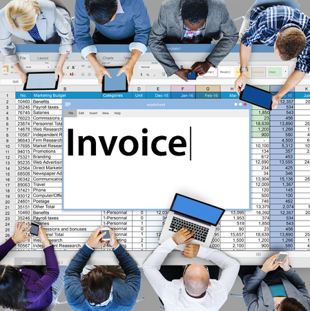 taxation: Invoice Payment Bill Taxation Money Concept