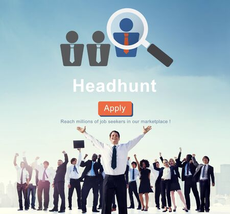 headhunting: Headhunt Headhunting Hiring Human Resources Concept Stock Photo