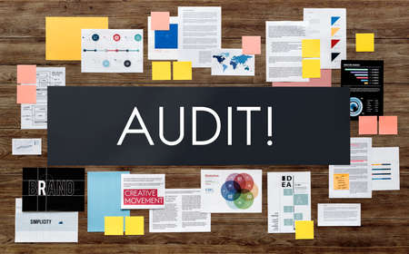 assessment: Audit Evaluation Examine Assessment Accounting Concept Stock Photo