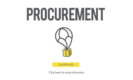 Procurement Distributie Inkoop Samenwerking Concept Stockfoto