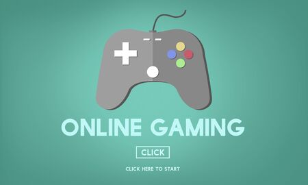 gaming: Online Gaming Playing Hobby Internet Strategy Concept Stock Photo