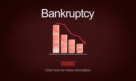 in trouble: Bankruptcy Debt Loan Owed Payment Trouble Concept