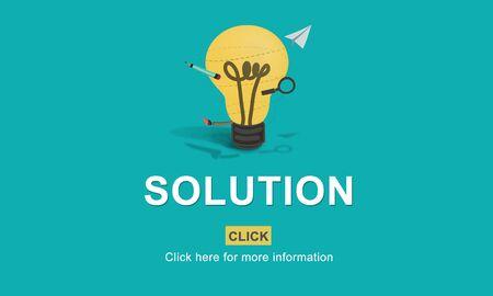 interface scheme: Solution Strategy Light Bulb Graphics Concept