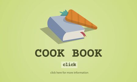 meal preparation: Cook Book Education Meal Preparation Concept Stock Photo