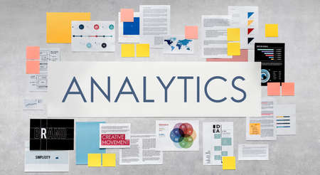 analyze: Analysis Analytics Analyze Research Information Report Concept Stock Photo