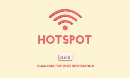 hotspot: Hotspot Computer Connection System Internet Concept