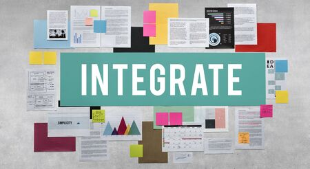 unify: Documents Paperwork Business Strategy Concept Stock Photo