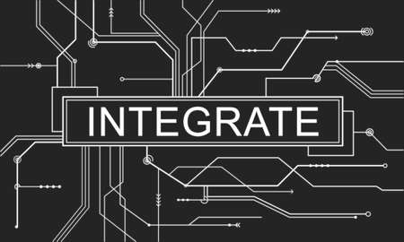 incorporate: Integrate Circuit Board Graphics Concept