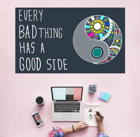 bad planning: Experience Good Positive Qoute Encouragement Concept Stock Photo