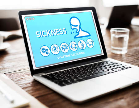 Sickness Allergy Disorder Sickness Healthcare Concept Stock Photo