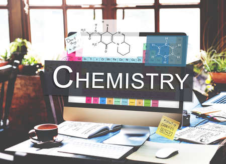 metodo cientifico: Ciencia Química Concepto Experimento Fórmula Foto de archivo