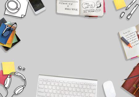 copy: Copy Space Laptop Socia Media Desktop Concept