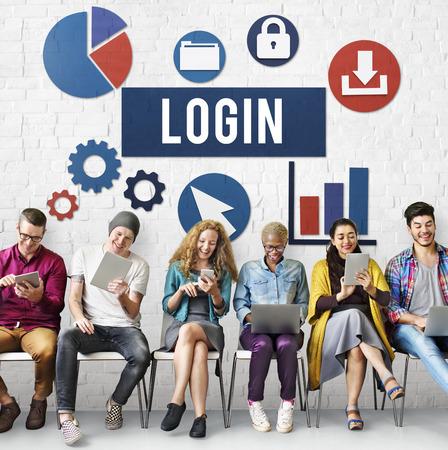 username: Login Username Protection Password Concept