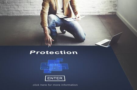 Protection Safety Security System Privacy Policy Concept Stock Photo
