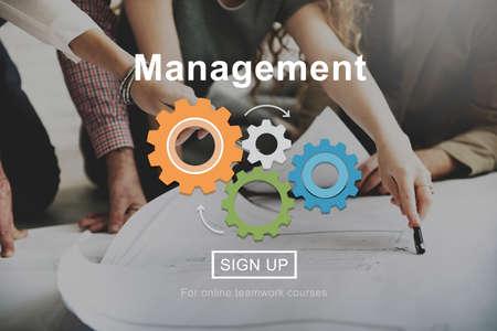 team leadership: Management Organization Commitment Process Concept Stock Photo