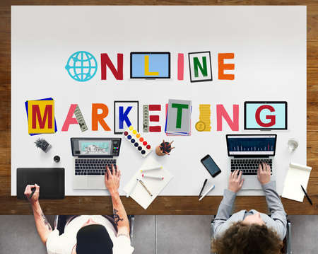 marketing online: Online Connection Marketing Communication Concept Stock Photo