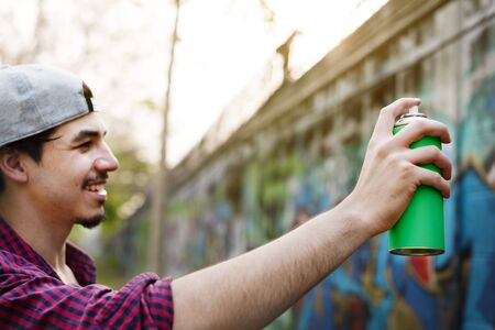 arts culture and entertainment: Graffiti Street Art Culture Spray Abstract Concept Stock Photo