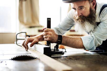 Handyman Occupation Craftsmanship Carpentry Concept Stock Photo