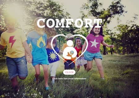 elementary age: Comfort Convenience Love Family Relaxation Concept Stock Photo