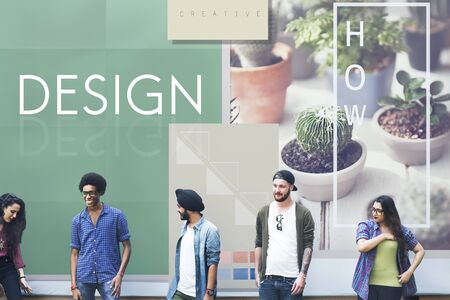 expressing artistic vision: Be Raw Creative Design Ideas Concept Stock Photo