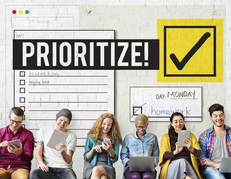 To Do List Time Management Reminder Prioritize Concept Zdjęcie Seryjne