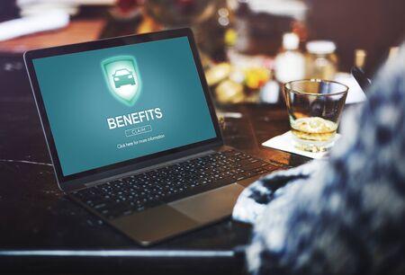 claims: Benefits Assets Profit Value Wages Bonus Claims Concept