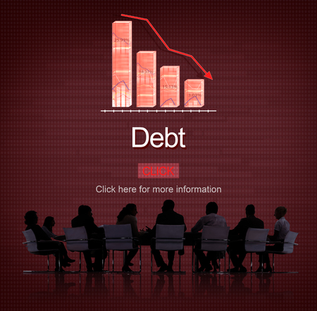 overdrawn: Debt Bill Banking Financial Planning Loan Money Concept Stock Photo