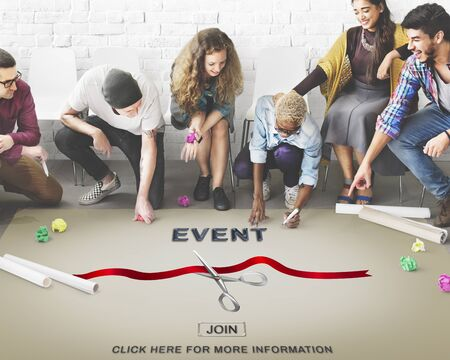 you are invited: New Business Ribbon Cutting Celebration Event Concept