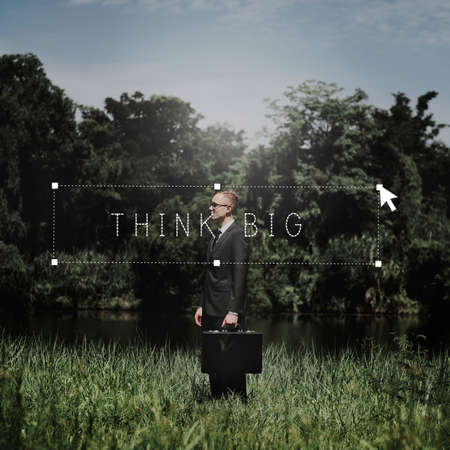 creer: Think Big cree Pensamiento Positivo Fe Concepto Foto de archivo