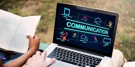 at communication: Communication Communiacte Conversation Concept