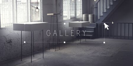 Galerie Musée Exposition intérieur Design Concept studio Banque d'images