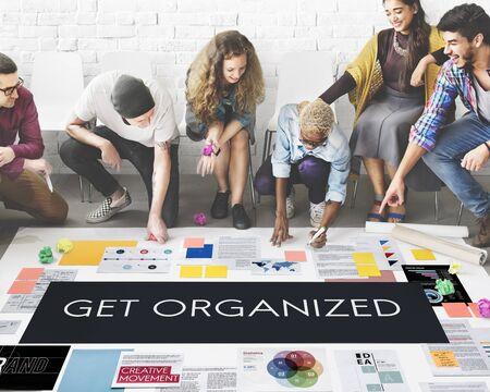 organized: Get Organized Management Planning Concept Stock Photo